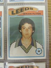 1978/1979 Leeds United - Card No.291) Brian Flynn  - Topps Chewing Gum Trade Car