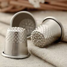 3pcs Silver Finger Thimble Tailor Sewing Pin Needle Grip Hands Shield Protector