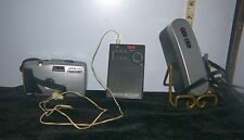 Lot of 3 Ultronic Panoramic 35mm Camera, TIME AM/FM Radio, Cable TV Adapter??