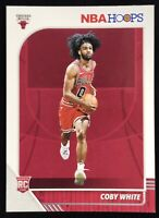 2019-2020 Panini NBA Hoops Coby White Rookie Card Rc Chicago Bulls 📈🔥