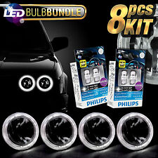 5-3/4-Inch Headlight Sealed Beam Upgrade w/ Philips LED Halo Bulbs (Pack of 4)