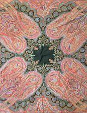 Handsome Handmade - 1900s Antique Indian Kashmir - Paisley Shawl - 6.1 x 6.2 ft