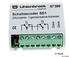 Sd1 quadro decoder 67500 Uhlenbrock NUOVO!!!
