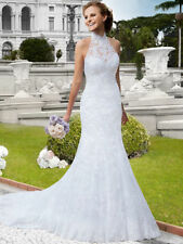 Lace Halterneck Sleeveless Wedding Dresses