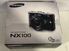 Samsung NX NX100 14.6MP Digital Camera Kit w/ 20-50mm Lens New INAT'L Black Body