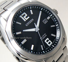 CITIZEN MEN ECODRIVE TITANIUM SAPPHIRE BLACK FACE DATE 100m  BM7081-51E