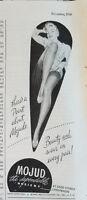 1946 Vintage MOJUD Womens Thigh High Hosiery Stockings Original Ad