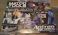 ANTRON BROWN - AUTOGRAPHED 8 X 10 Promo card - NHRA Funny Car Driver