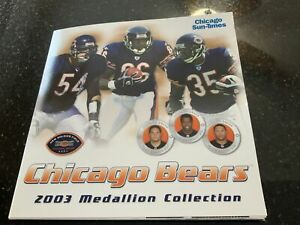 Chicago Sun Time 2003 Chicago Bears Mediallion Collection