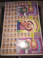 ORIGINAL Garbage Pail Kids 1986 Topps 132 Card Uncut Sheet EXTREMELY RARE 44x28