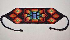 Glass Seed Bead South American Loom Work Bracelet, Colombian Beadwork