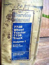 CAT Caterpillar 772B WHEEL TRACTOR 773B TRUCK Vol. I Service Repair Manual  #954
