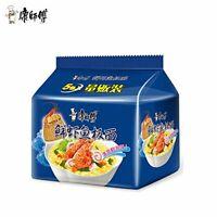 康师傅 经典袋鲜虾鱼板面 5包  KANGSHIFU seafood flavor instant noodles chinese food 5bag/Pack