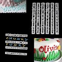 Alphabet Letter Number Fondant Cutter Mould Cake Cookie Decorating Baking Mold Q