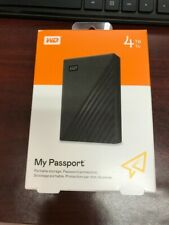 WD WDBPKJ0040BBK-WESN My Passport 4TB External Hard Drive - Black BRAND NEW