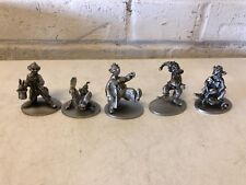 Vintage Schmid Fine Pewter Lot of 5 Miniature Clown Figurines