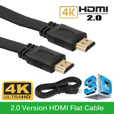 1m PREMIUM Flat HDMI Cable v2.0 High Speed UltraHD 4K 2160p 3D HDMI Lead Wire