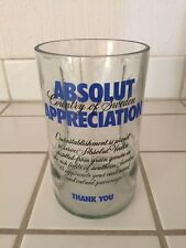 """Absolut """"Appreciation"""" Vodka Glass Tip Jar Collectible BRAND NEW! Last one"""