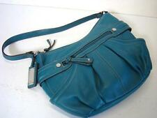 TIGNANELLO Gorgeous Teal Blue Pleated Leather Purse