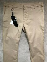 "EMPORIO ARMANI BEIGE SLIM FIT TROUSERS PANTS CHINOS ANP31 - 30"" (46) - NEW TAGS"
