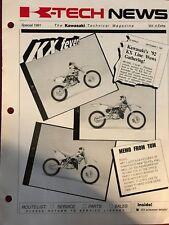 Kawasaki K-Tech News vol.4 1991 Prospectus brochure prospect Go