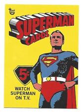 2018 TOPPS 80TH ANNIVERSARY TRADING CARDS CARD NO.16 SUPERMAN 1966 WRAPPER ART