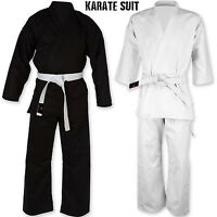 Karate Suit Martial Arts Uniform With Free Belt All Sizes in Black / White Dimex