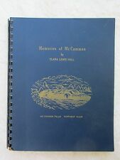 1956 Mormon Genealogy MEMORIES OF MCCAMMON by CLARA LEWIS HALL Church of LDS