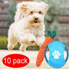10tlg Hunde Spielzeug Set aus Seil Kauspielzeug Zahnpflege Frisbee Ball Spieltau