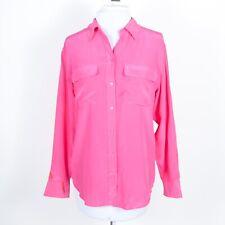 Equipment Signature 100% Silk Button-Up Blouse Shirt Chest Pockets Long Sleeve S