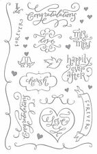 Mrs. Grossman's Giant Stickers - Romantic Wedding Captions - Mr & Mrs - 2 Strips