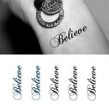 Removable Stickers Body Art Tattoo Waterproof Temp Tattoo--Believe Lovely bala