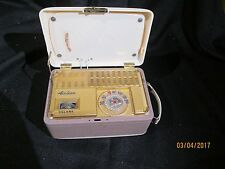 VINTAGE RETRO MID CENTURY 1940's PORTABLE AIRLINE VACUUM TUBE RADIO HARD TO FIND