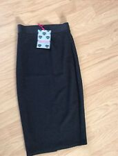 SIZE 10 BLACK BODY CON PENCIL SKIRT BY BOOHOO