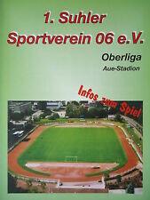 Programm 1998/99 Suhler SV 06 - VfL Halle 96