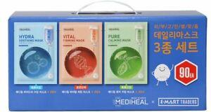 Mediheal Daily Facial Mask 90 PCS  Soothing *30EA Firming *30EA Calming *30EA