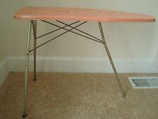 Vintage Toy Kids Pink Metal Folding Ironing Board