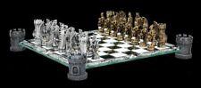Dragon Et Chevalier Jeu d'échecs sur burgtürmen - Figurines d'échecs Set verre