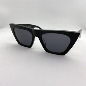 New CELINE EDGE CL41468/S Women's Cat Eye Black Sunglasses Eyewear - Authentic