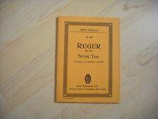 Noten Reger. String Trio. Op.77b. Taschenpartitur