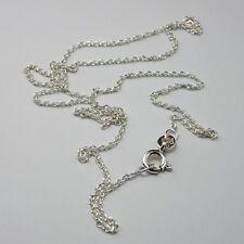 Solido 925 Argento Sterling Catena Collana di alta qualità 45cm, nuova con sacchetto regalo