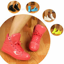 Women Men Sweet Candy Color Lace Up High Top Fashion Shoes Boots Casual Sneakers
