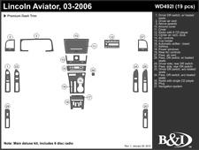LINCOLN AVIATOR 2003 2004 2005 2006 DASH TRIM KIT i