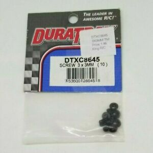 DURATRAX Screws 3x3mm (10 pieces) #DTXC8645 NEW RC Part