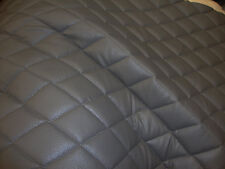 """Vinyl Upholstery Grey diamond Quilted fabric with 3/8"""" Foam Backing by yard"""
