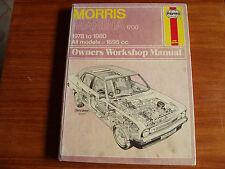 MORRIS MARINA WORKSHOP MANUAL 1978 - 80