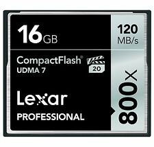 Lexar UDMA 7 800x 16GB CF Compact Flash Memory Card Camera DSLR VPG-20 120MB/s