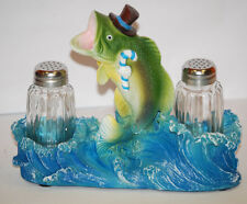 Decorative Large-Mouth Bass Salt & Pepper Shaker Set