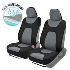 Black/Gray Classic Waterproof Car Seat Covers 2 Piece Front Protector Coverage