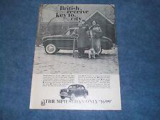 "1958 Triumph Sedan Vintage Article ""British Receive Key to City"""
